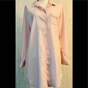 Victorias Secret Sleep Shirt Stripe Sz. (M)